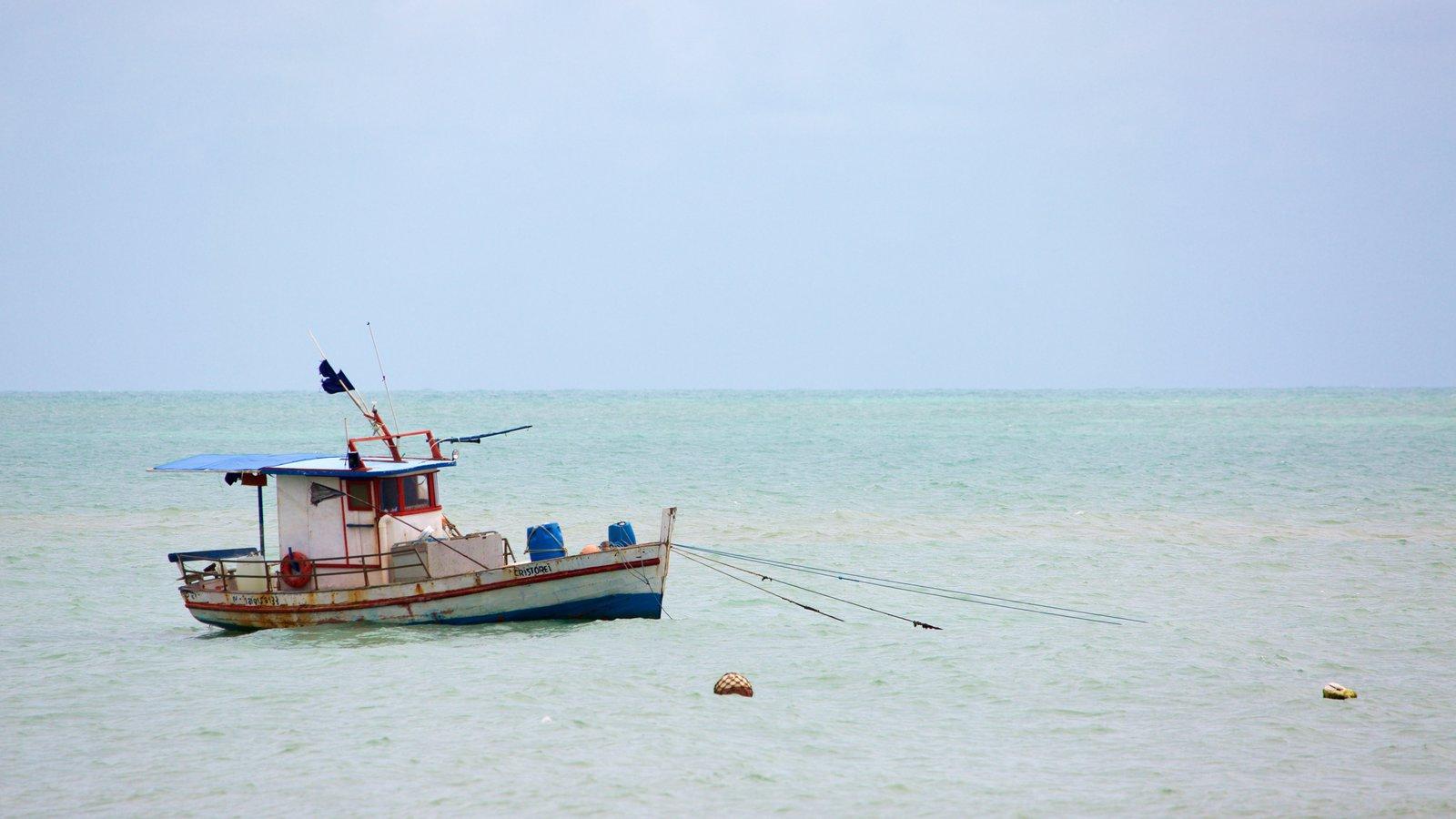Praia de Pirangi caracterizando paisagens litorâneas, canoagem e pesca