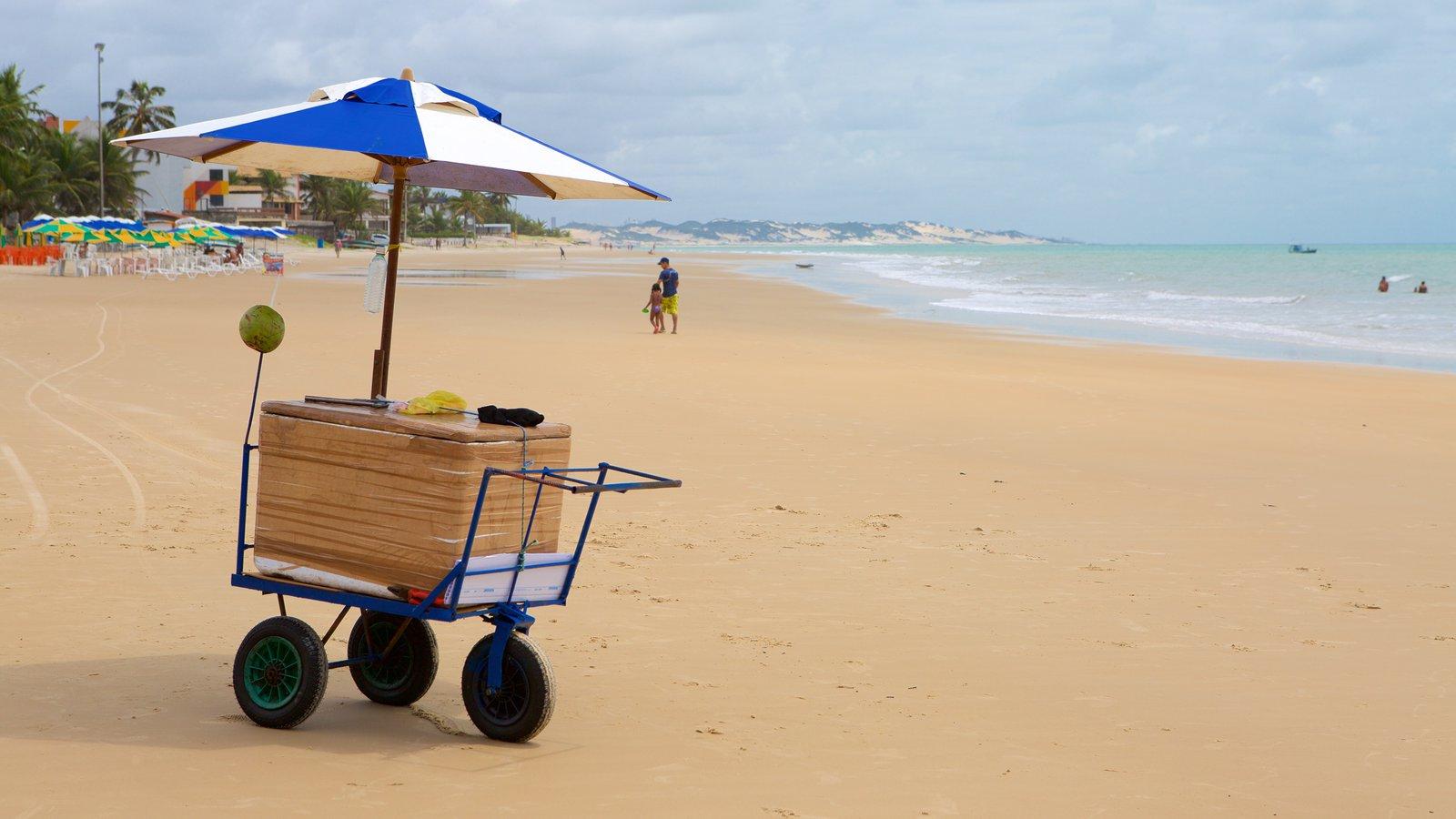 Praia de Pirangi mostrando paisagens litorâneas e uma praia de areia