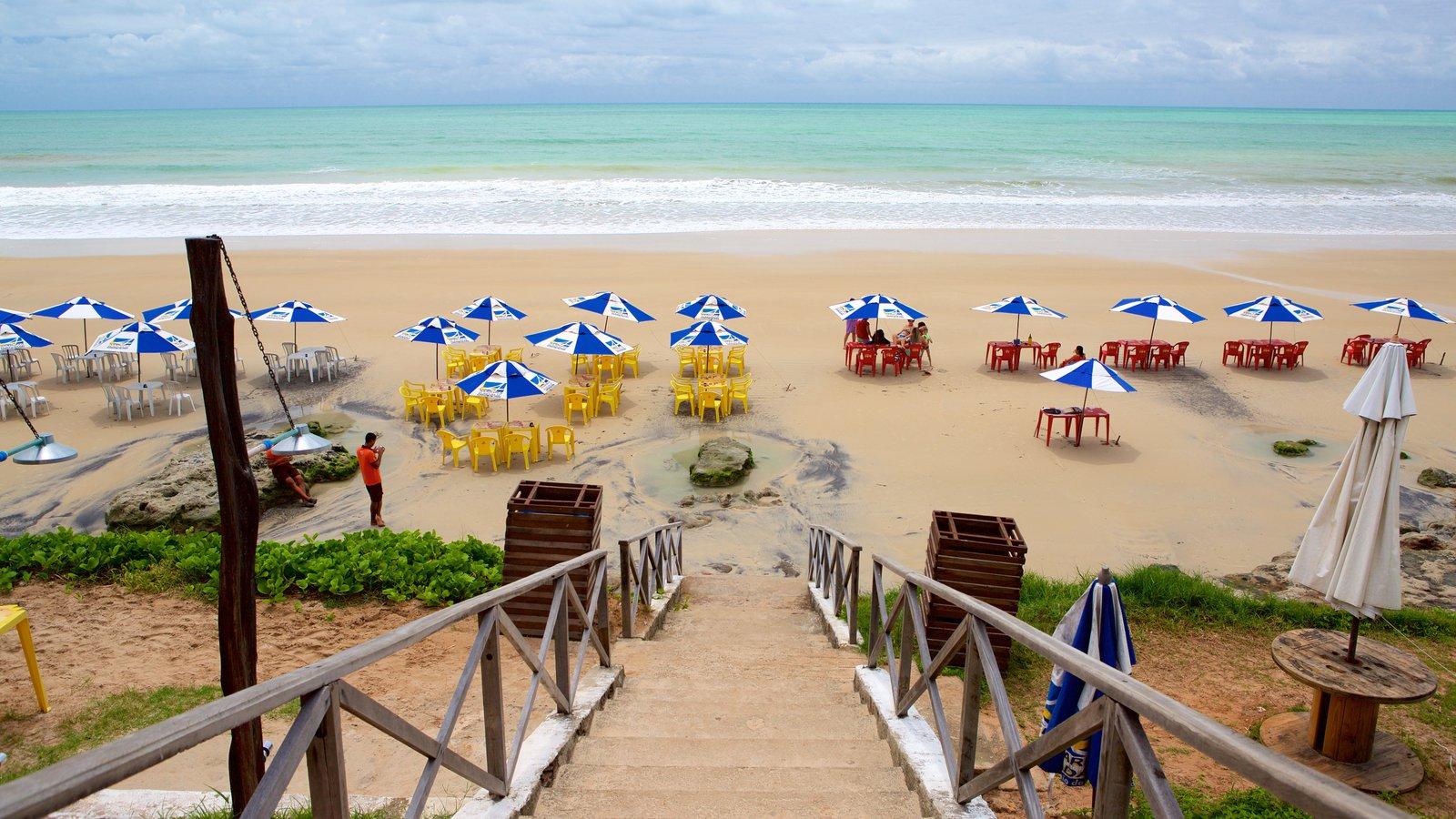 Praia de Cotovelo que inclui paisagens litorâneas e uma praia