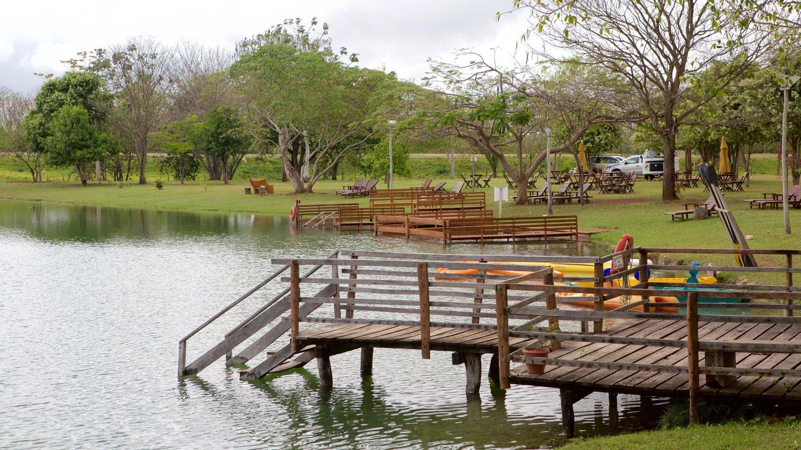 Parque Ecológico Rio Formoso que inclui um jardim e um lago ou charco