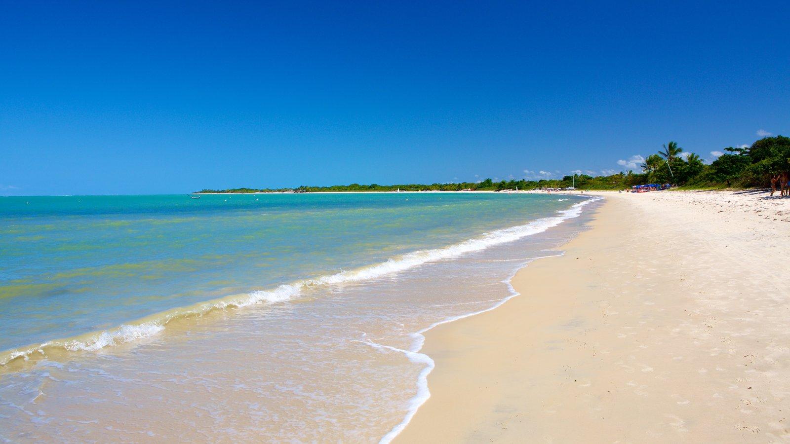 Praia do Mutá mostrando paisagens litorâneas e uma praia