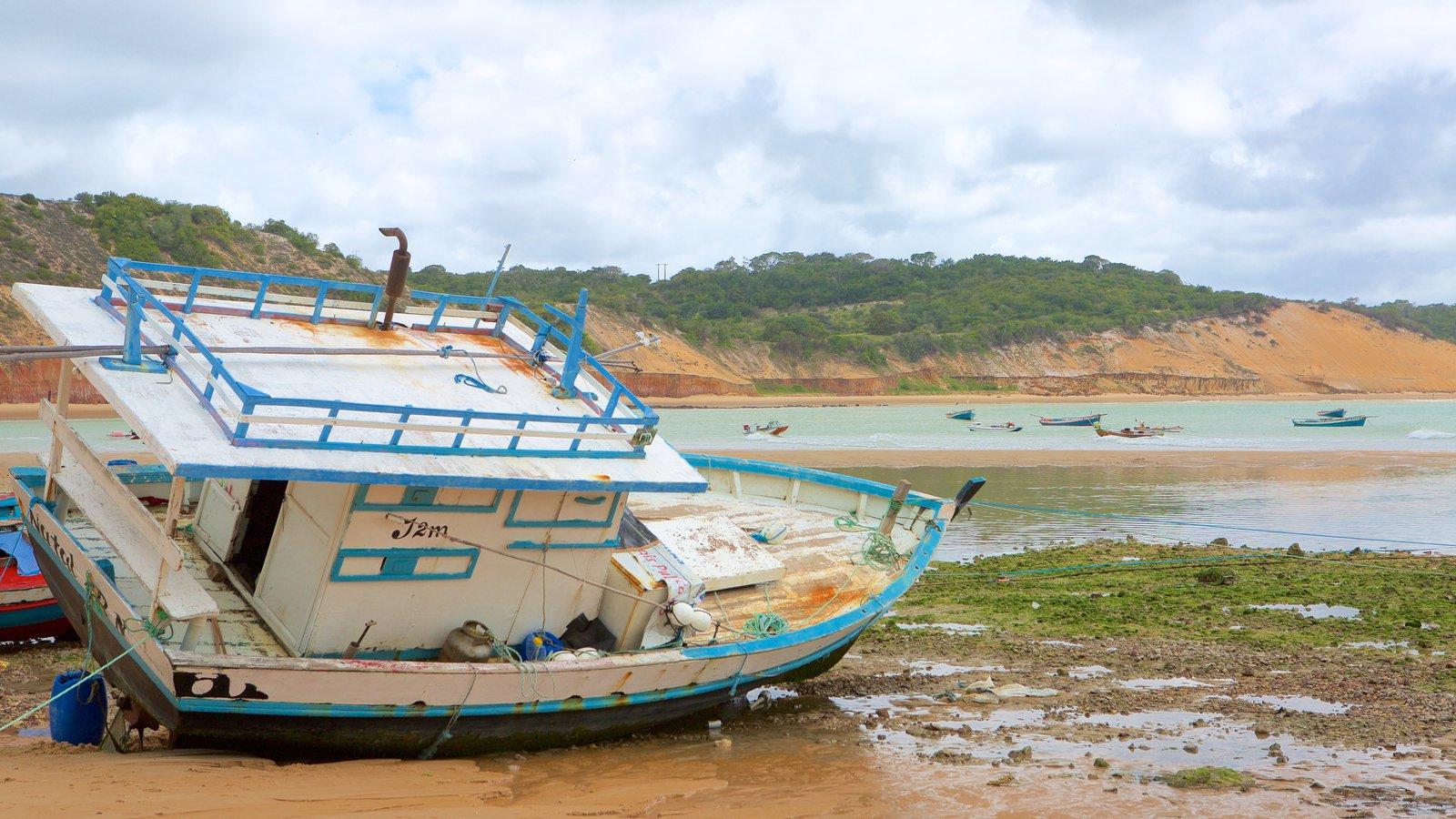 Baía Formosa que inclui paisagens litorâneas e uma praia de areia
