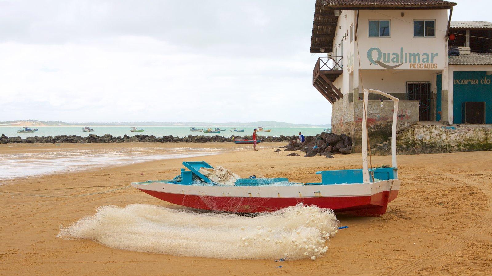 Baía Formosa que inclui uma praia de areia e paisagens litorâneas