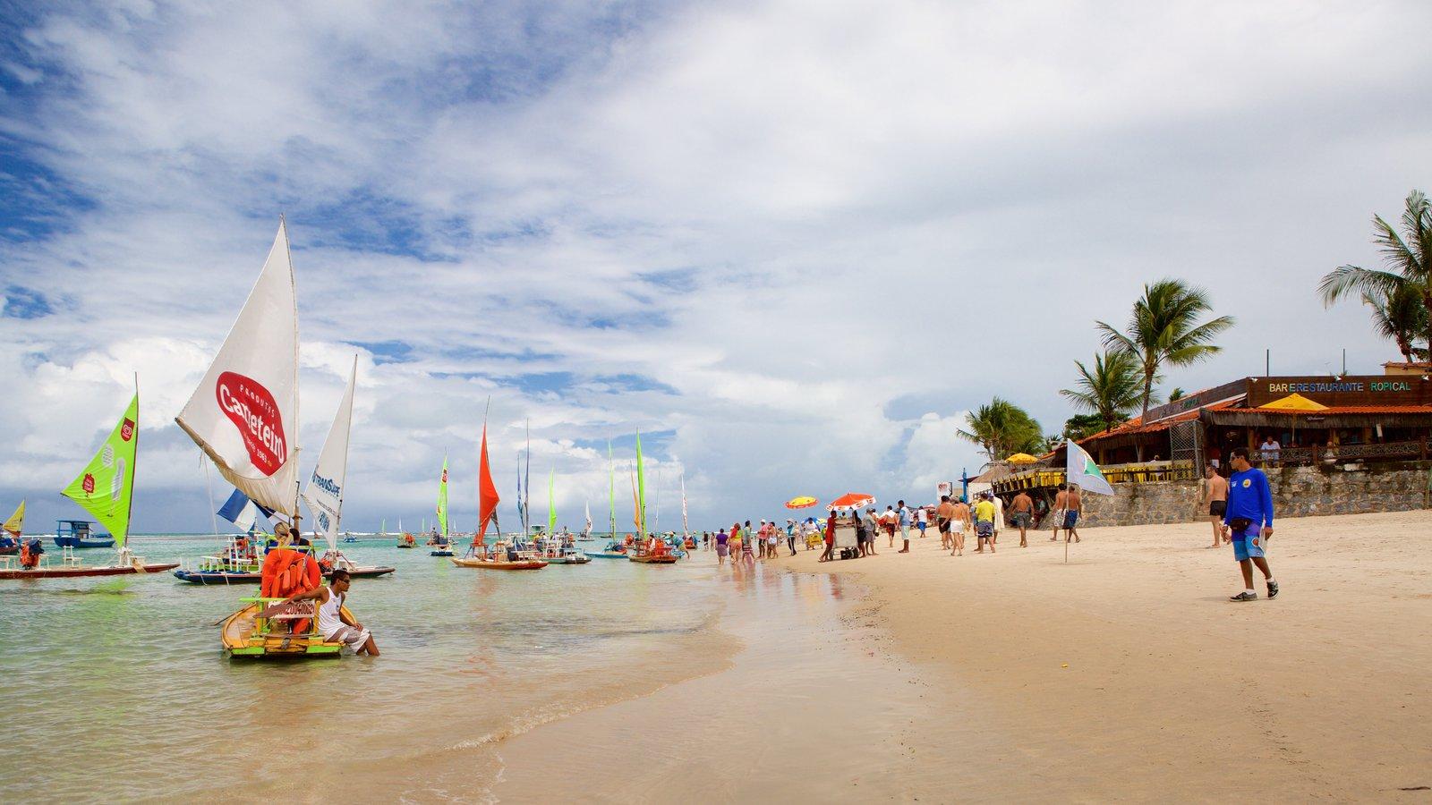 Porto de Galinhas mostrando vela, uma praia e rafting