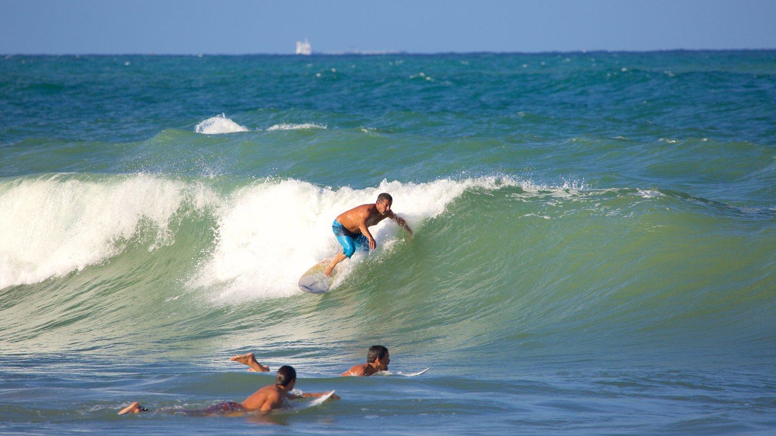 Praia de Maracaípe mostrando surfe, ondas e paisagens litorâneas