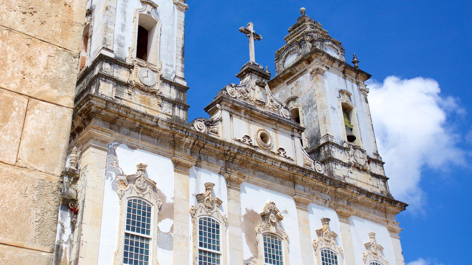 Igreja e Convento de São Francisco de Salvador caracterizando uma igreja ou catedral, aspectos religiosos e elementos de patrimônio