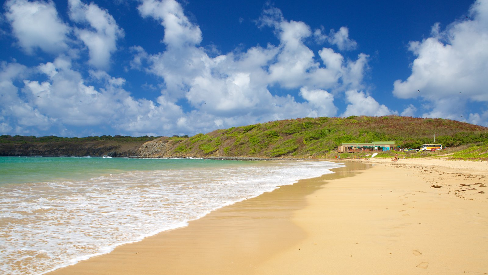 Praia do Sueste caracterizando uma praia e paisagens litorâneas