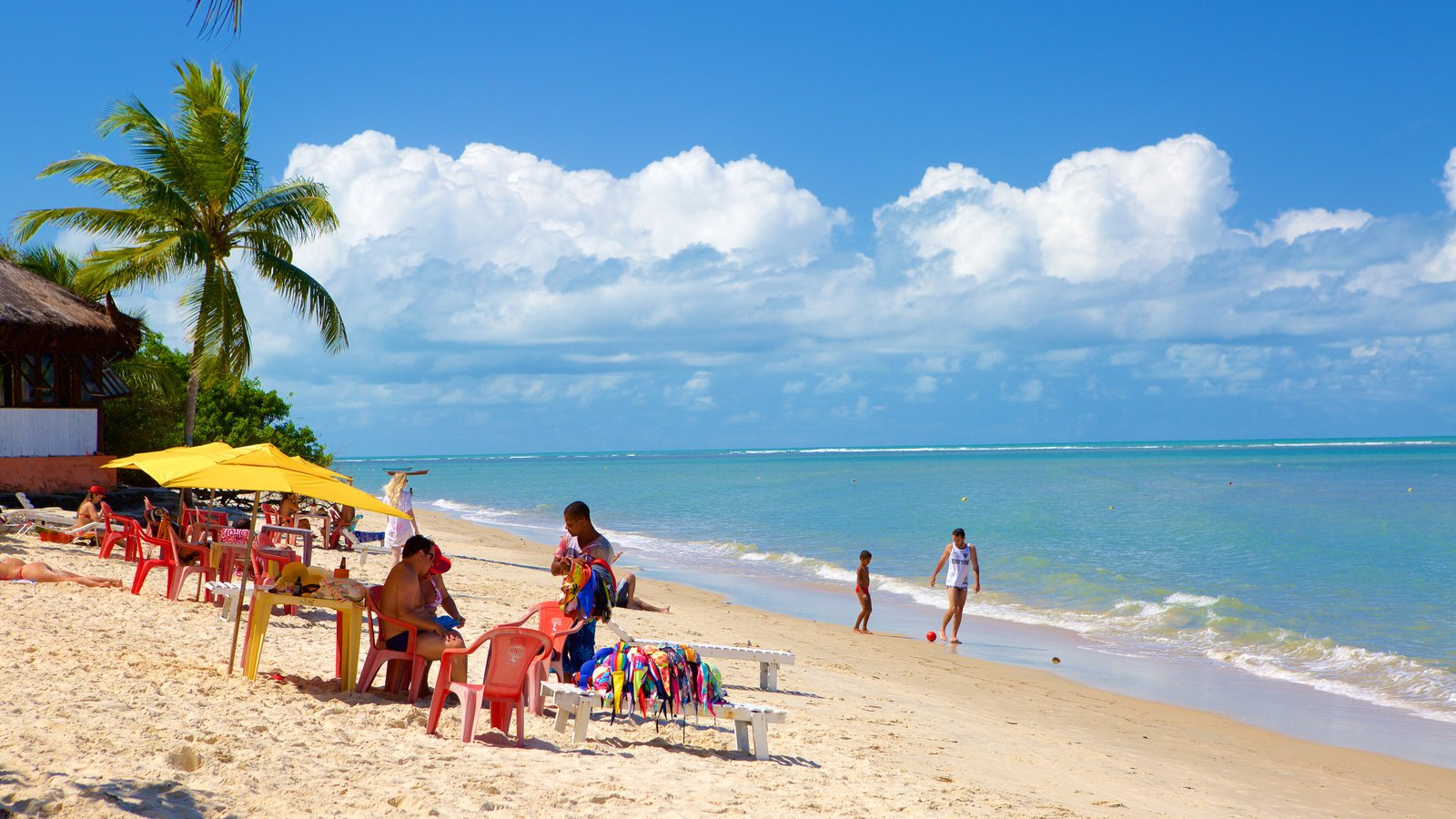 Praia do Mutá caracterizando cenas tropicais, uma praia de areia e paisagens litorâneas
