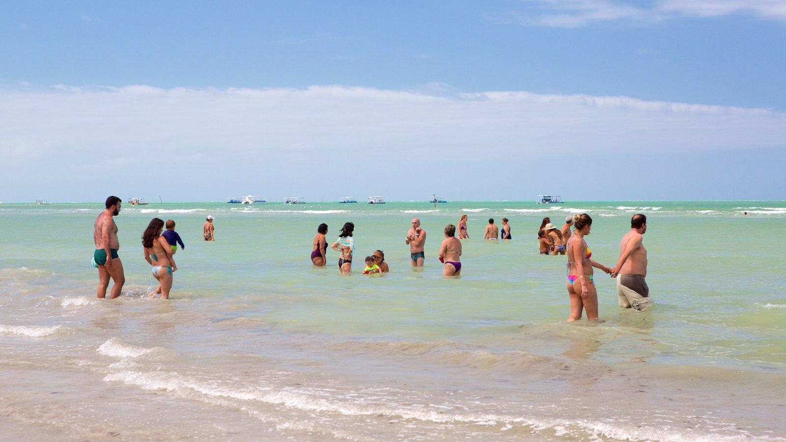 Praia de Paripueira caracterizando paisagens litorâneas, uma praia de areia e natação