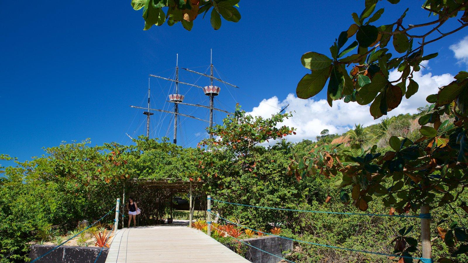 Memorial do Descobrimento do Brasil caracterizando um jardim