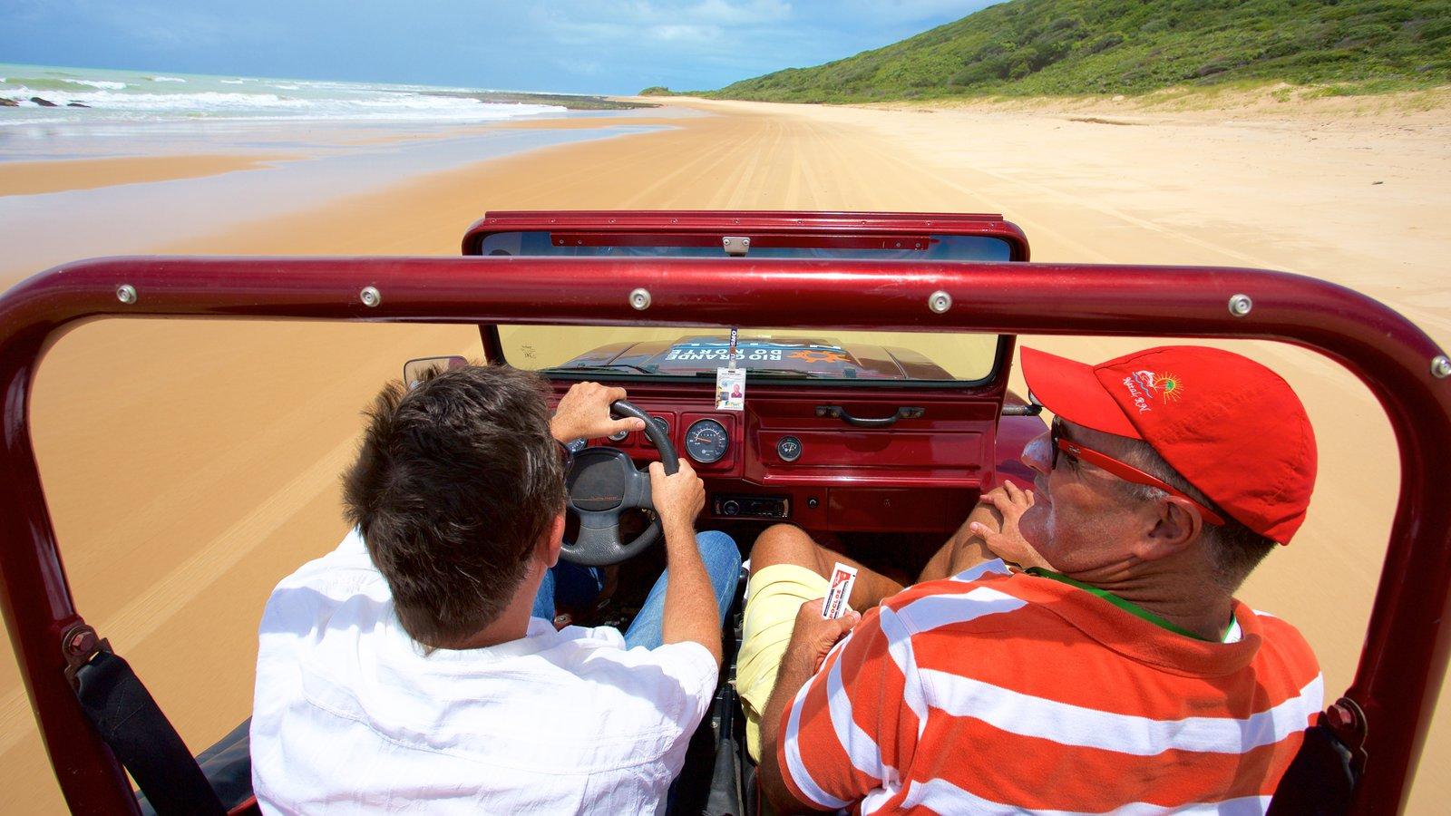 Natal mostrando uma praia de areia, paisagens litorâneas e off-road