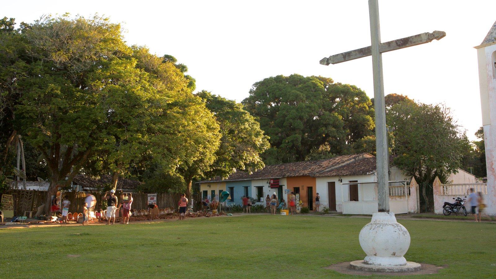Porto Seguro mostrando um parque e elementos religiosos