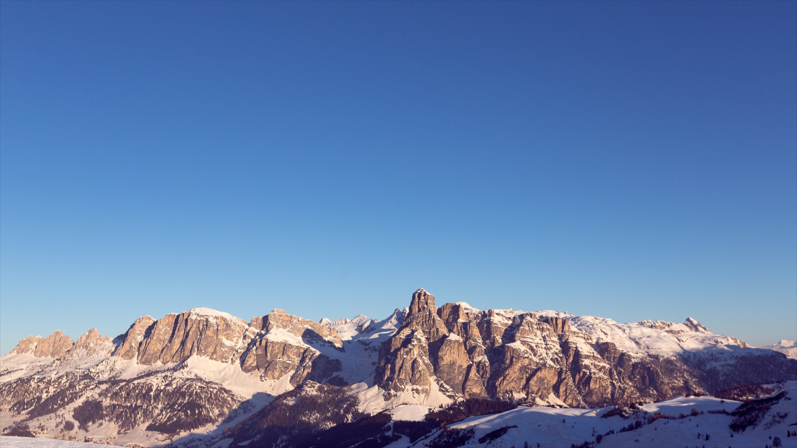 Corvara in Badia which includes mountains, snow and landscape views