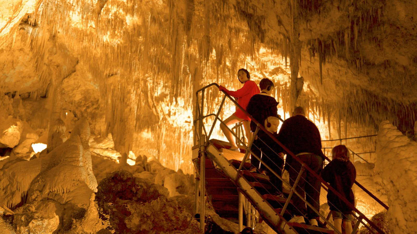 Mammoth Cave featuring caves as well as an individual male