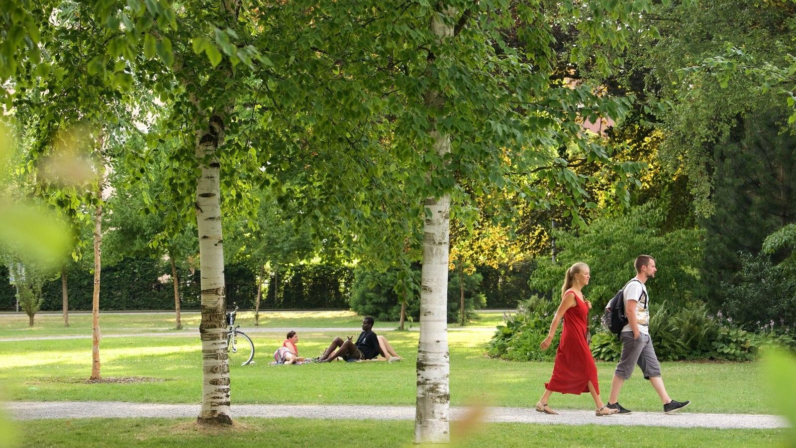 Constance showing a garden as well as a couple
