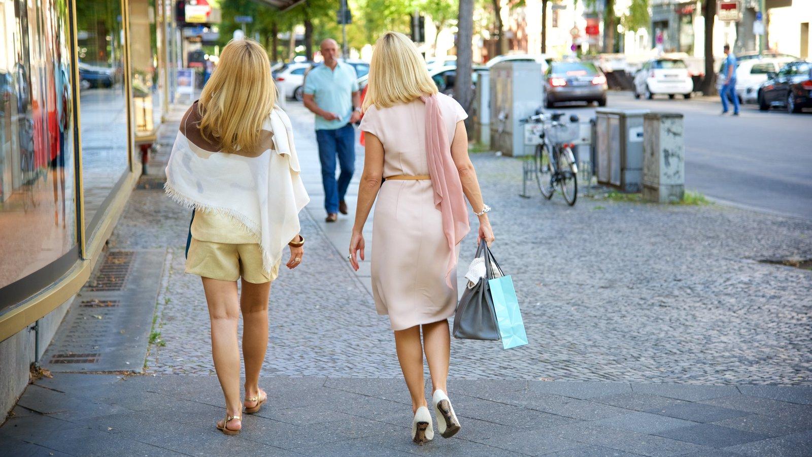Kurfuerstendamm featuring shopping as well as a couple