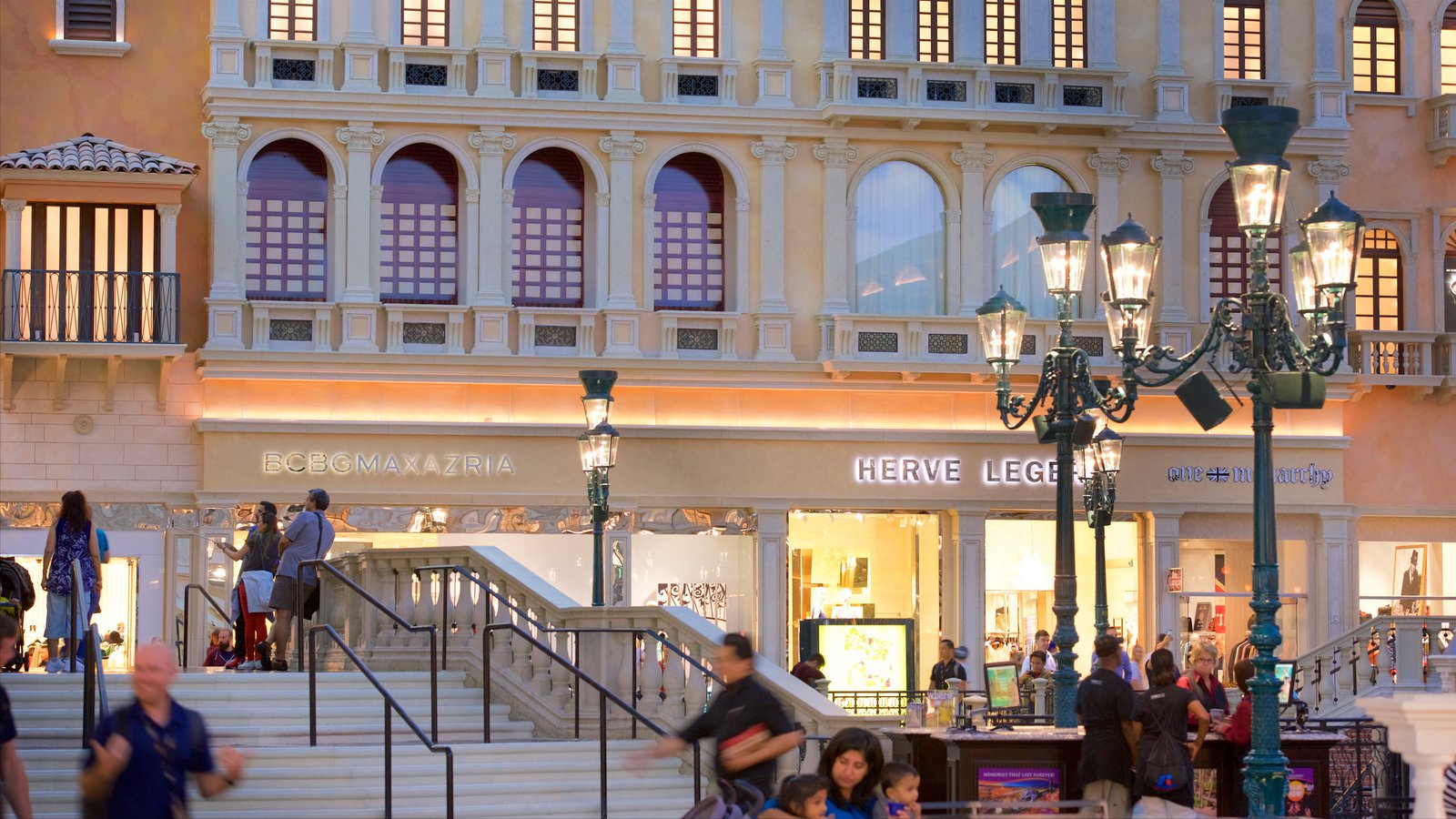 Grand Canal Shoppes featuring signage, a casino and shopping