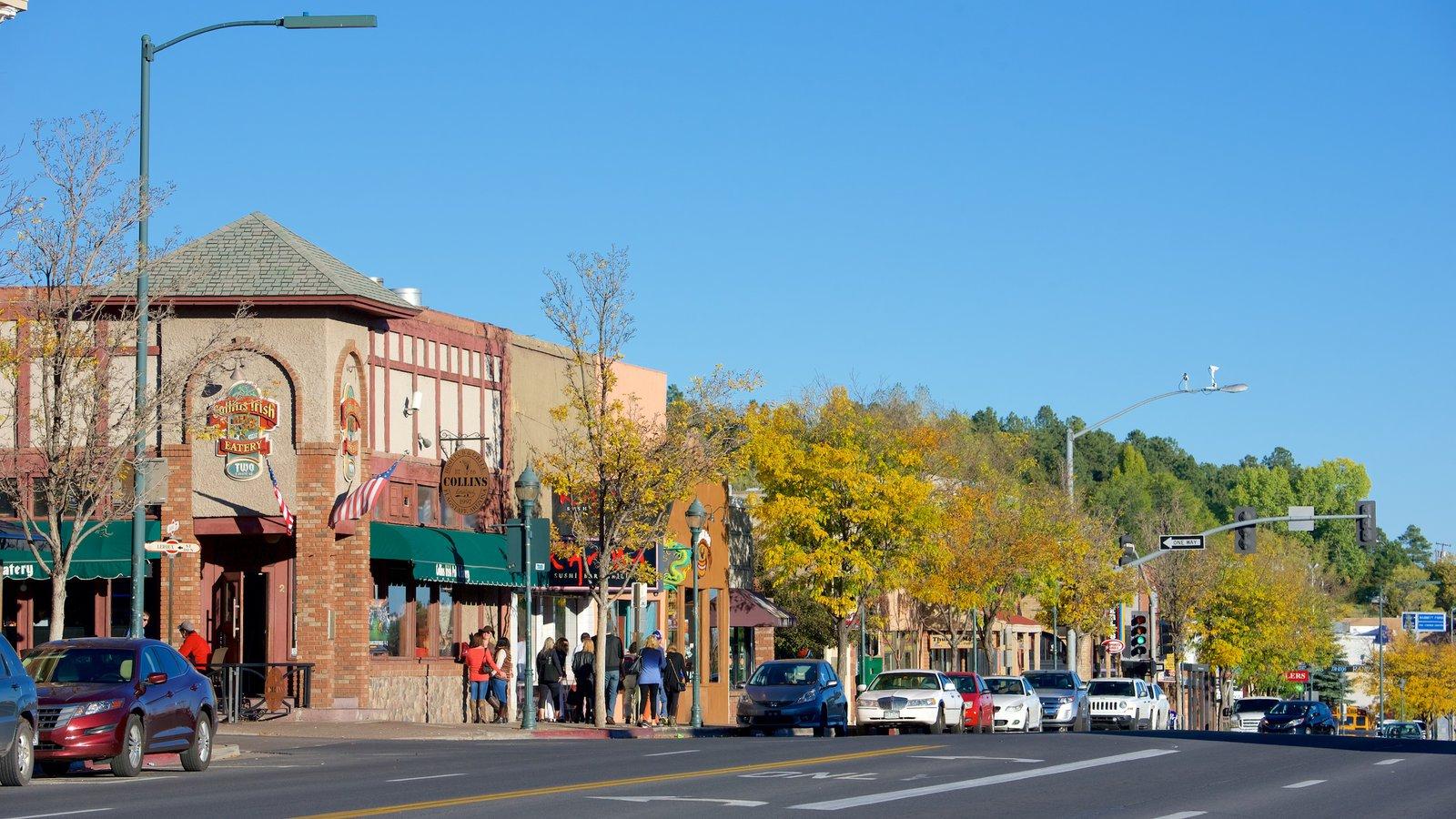 Flagstaff caracterizando cenas de rua