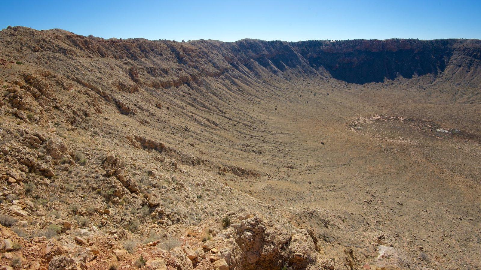 Meteor Crater caracterizando cenas tranquilas e paisagens do deserto