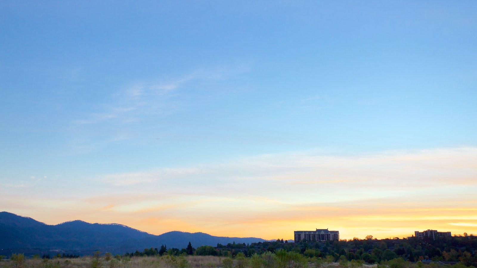 Medford mostrando una puesta de sol