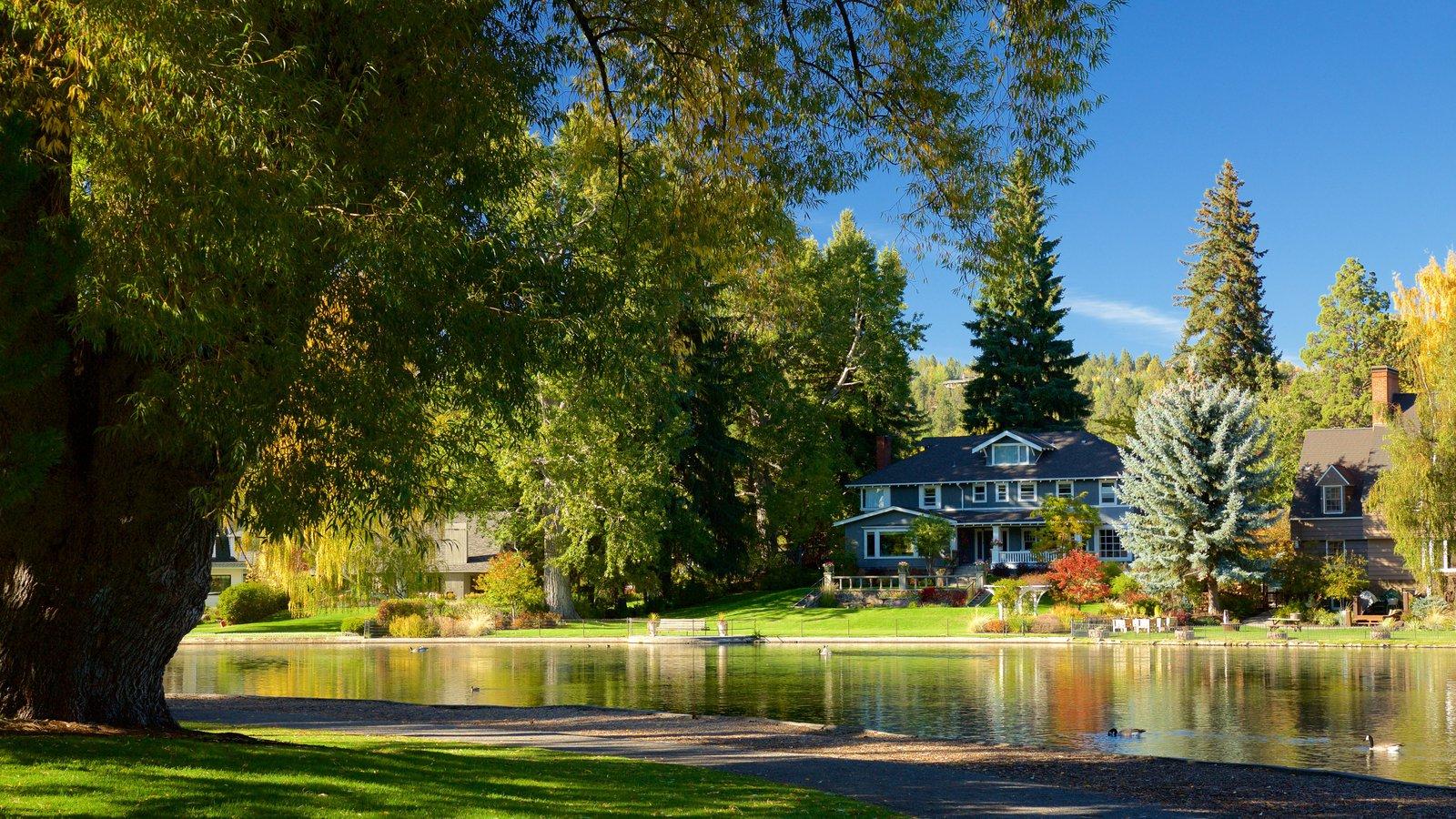 Drake Park ofreciendo un estanque y un parque