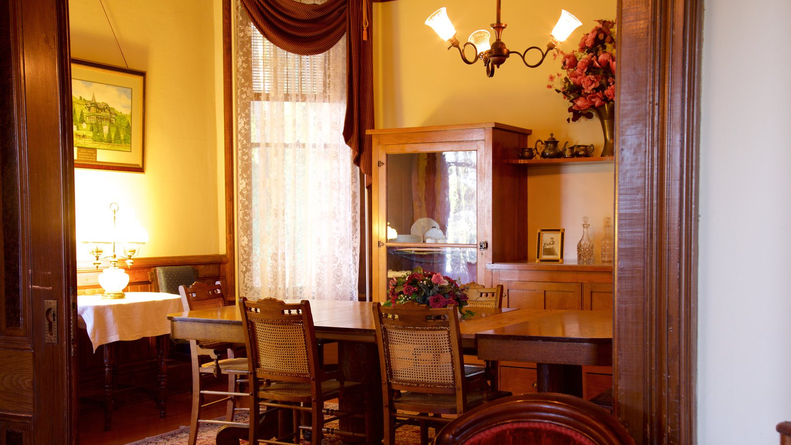 dining table inside of Orange Johnson House