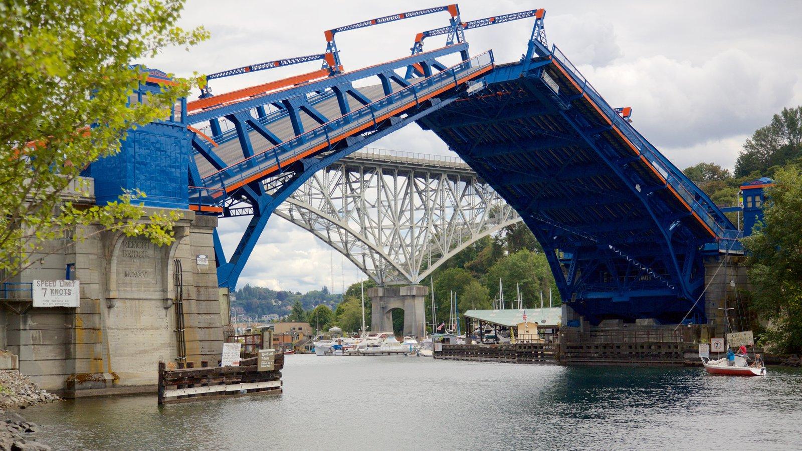Fremont caracterizando uma ponte e um rio ou córrego