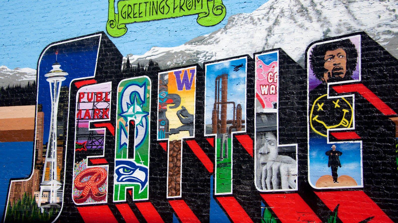 Belltown que inclui arte ao ar livre