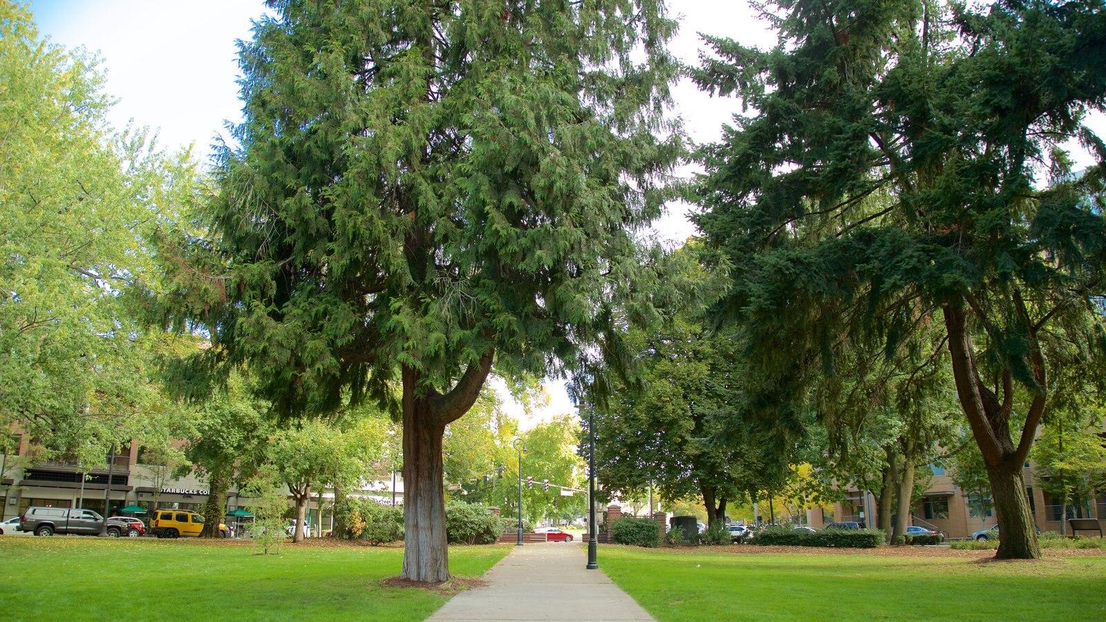 Esther Short Park que inclui um jardim
