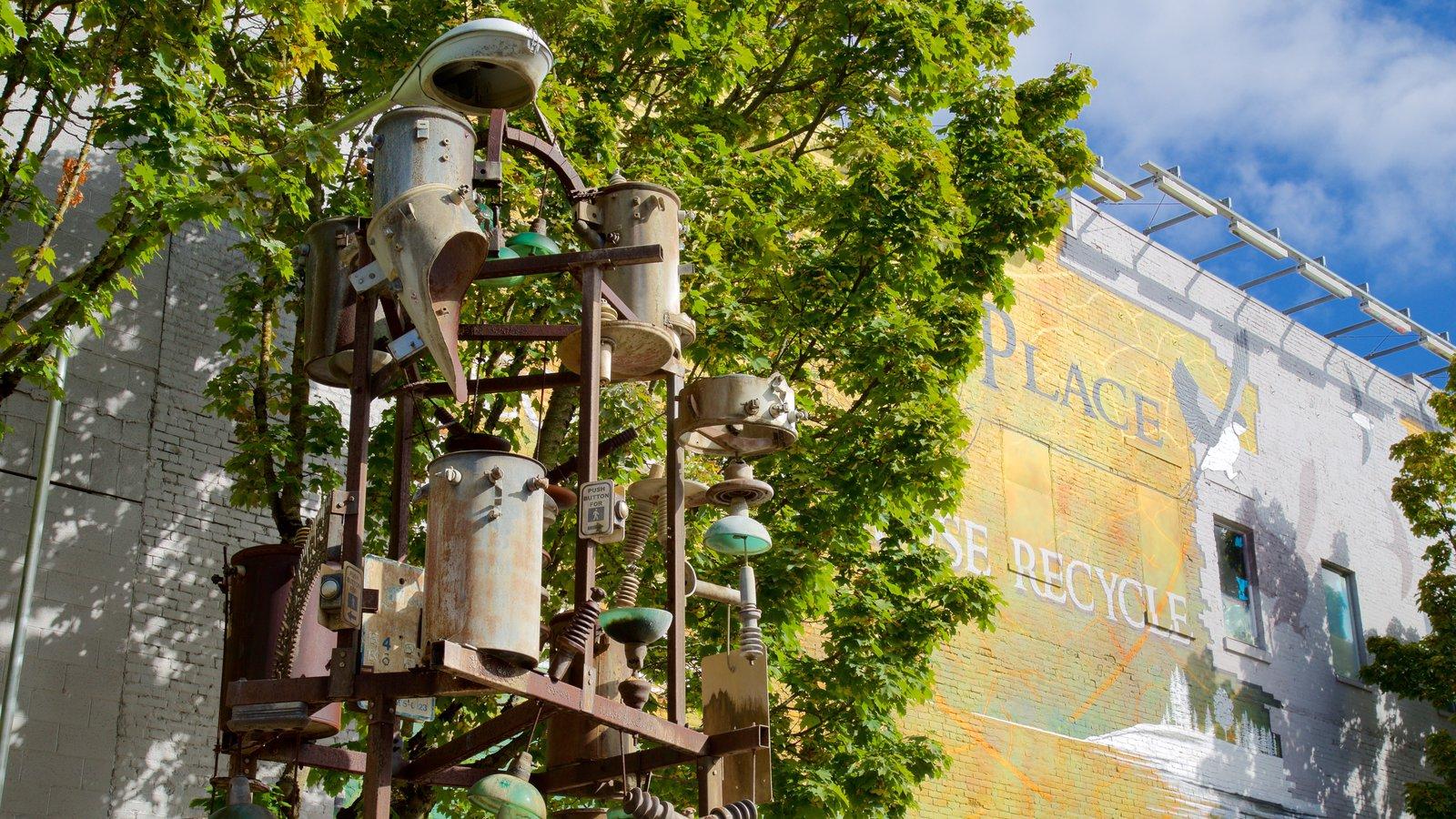Vancouver mostrando arte ao ar livre