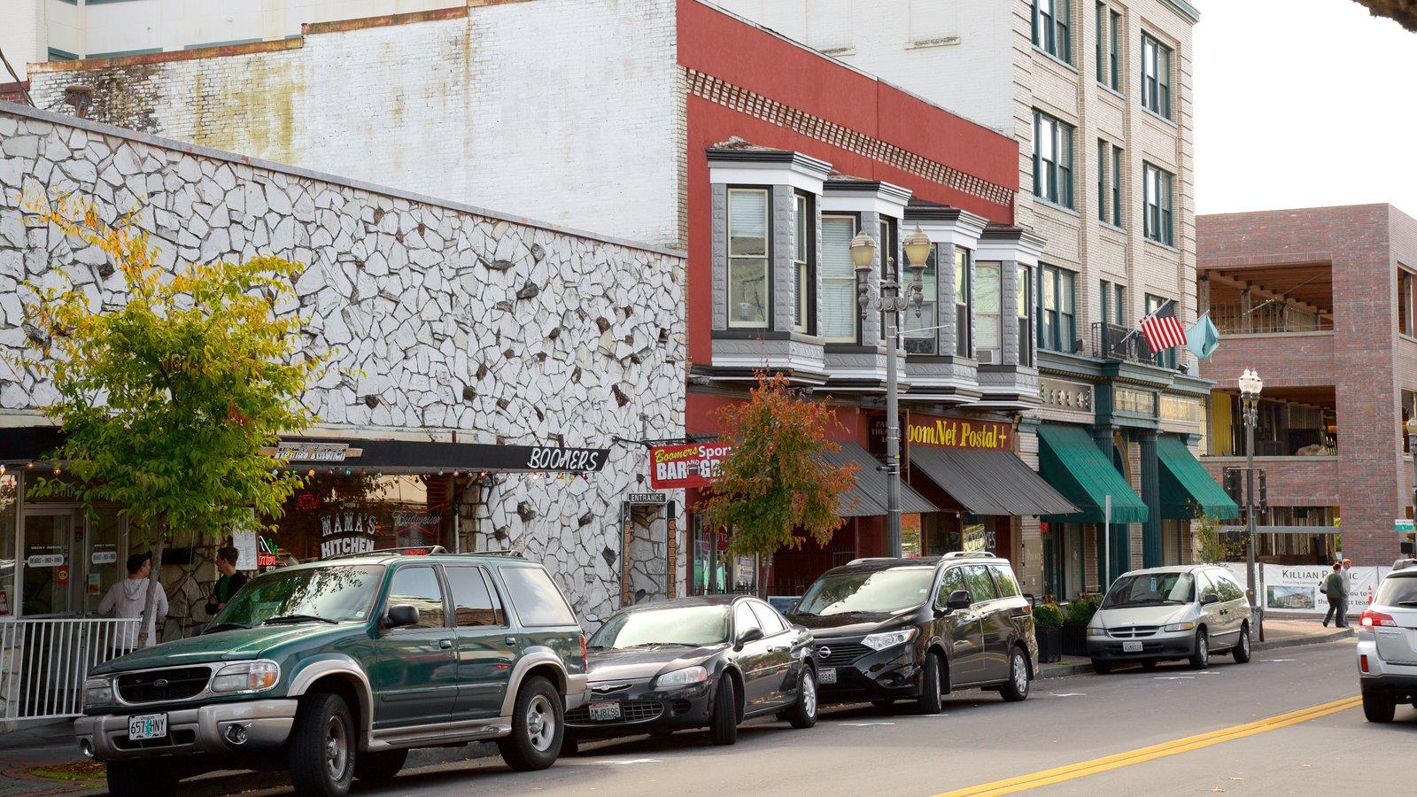 Vancouver que inclui cenas de rua e arquitetura de patrimônio