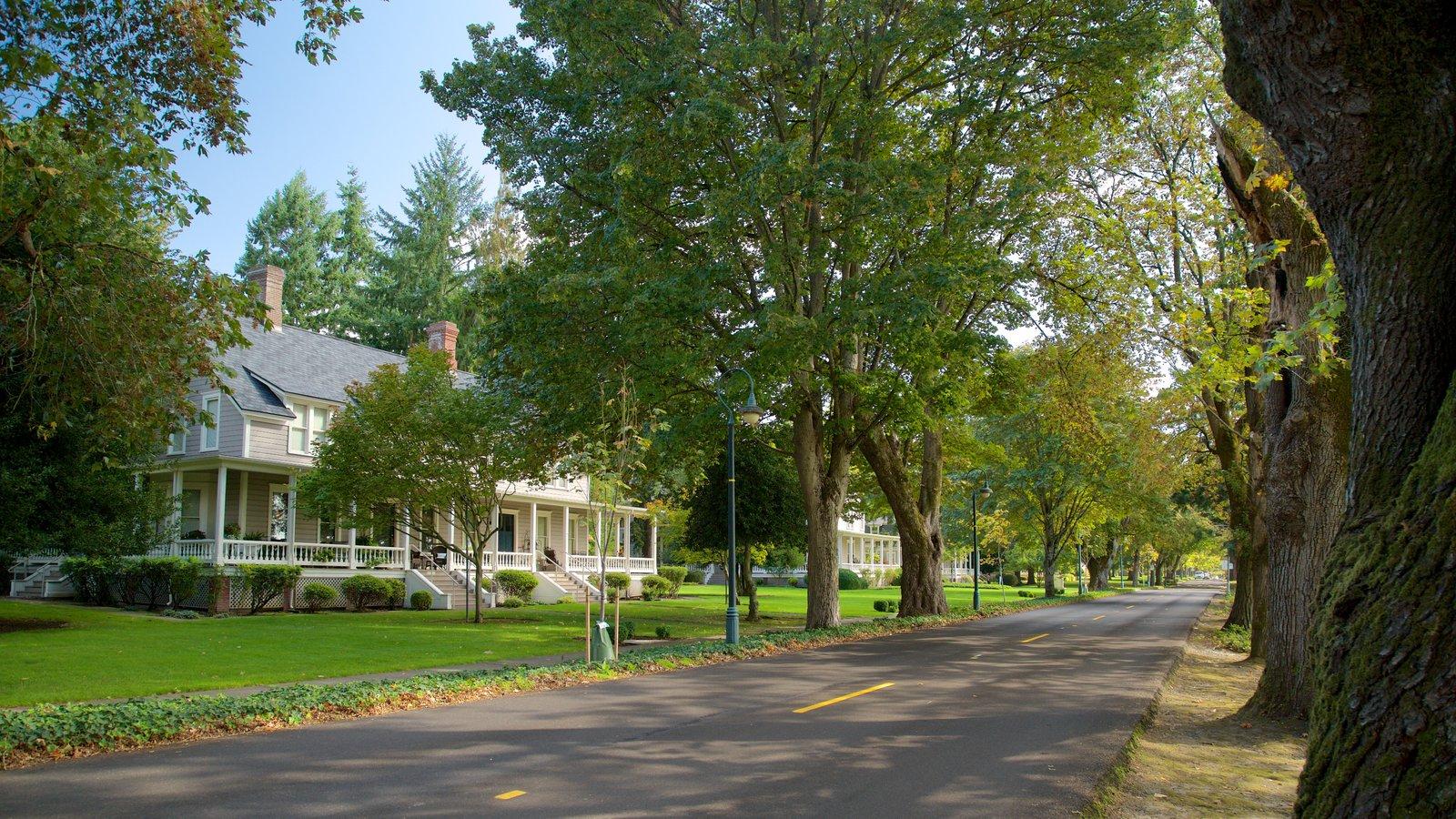 Vancouver caracterizando arquitetura de patrimônio, cenas de rua e uma casa