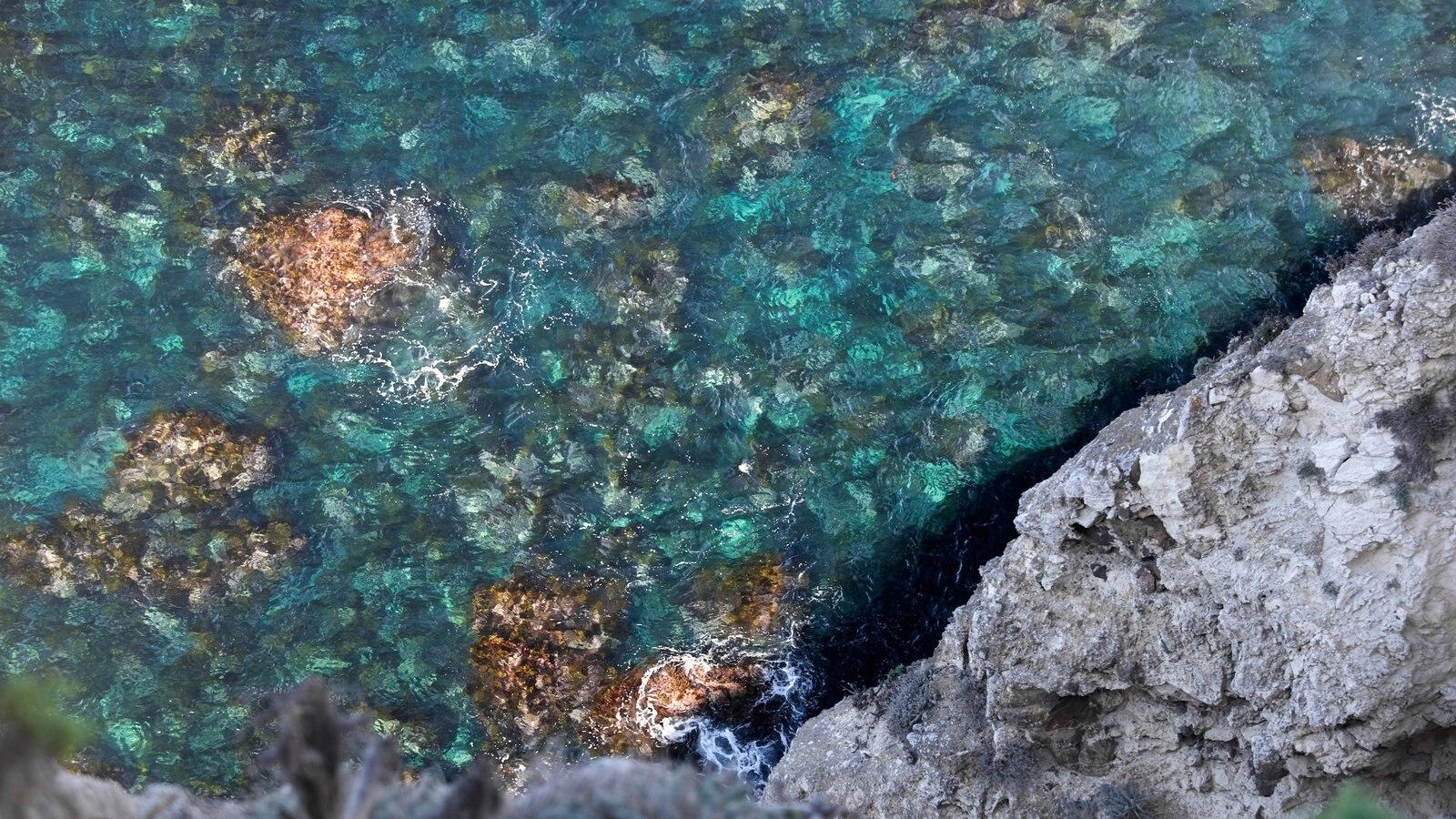 Parque Nacional de Channel Islands que inclui litoral rochoso e paisagens litorâneas