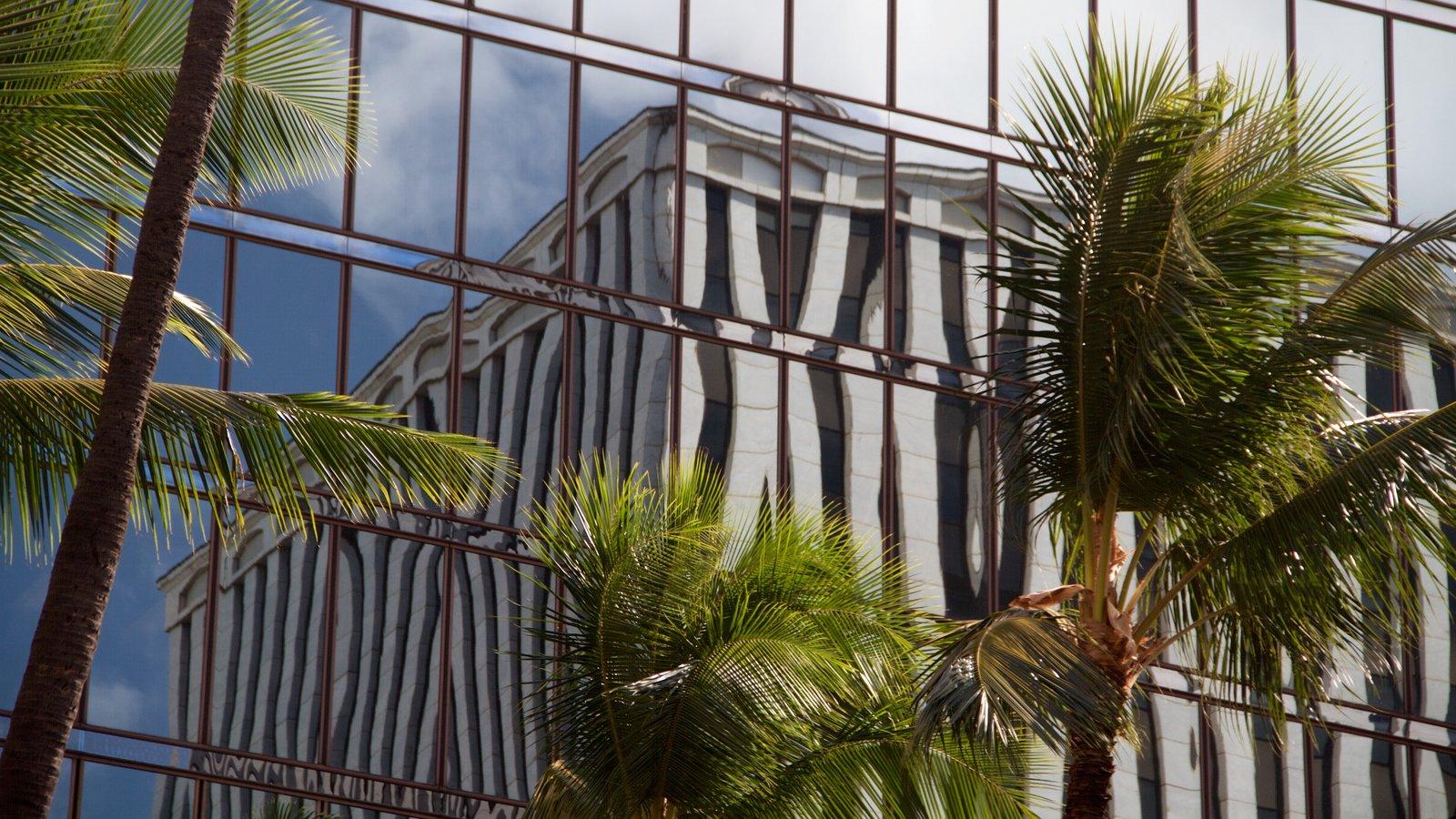 Honolulu caracterizando arquitetura moderna