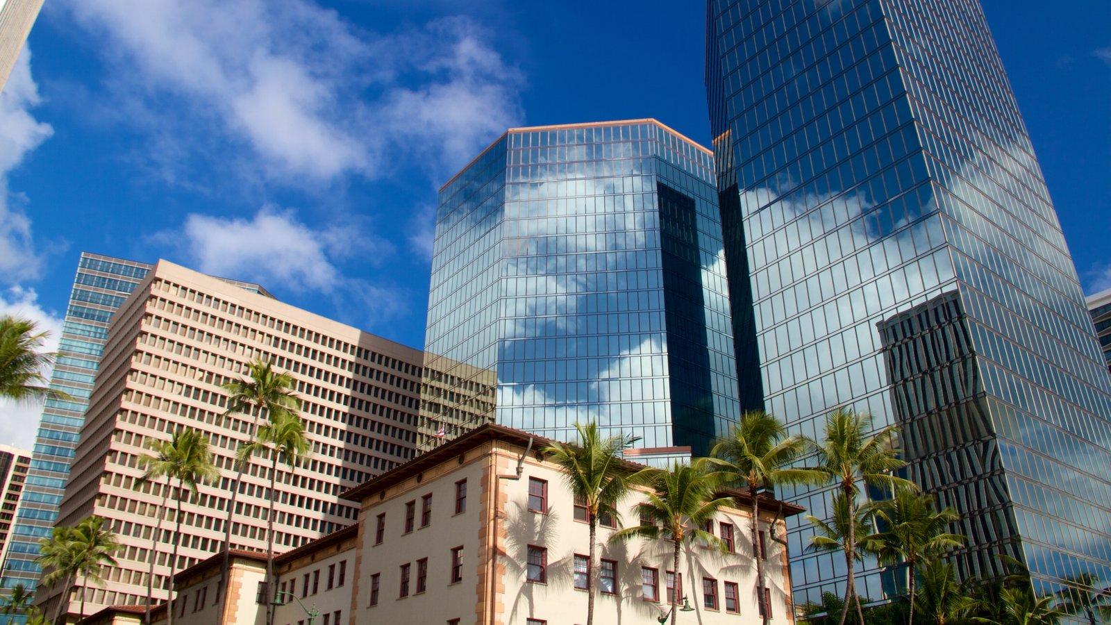 Oahu que inclui arquitetura moderna