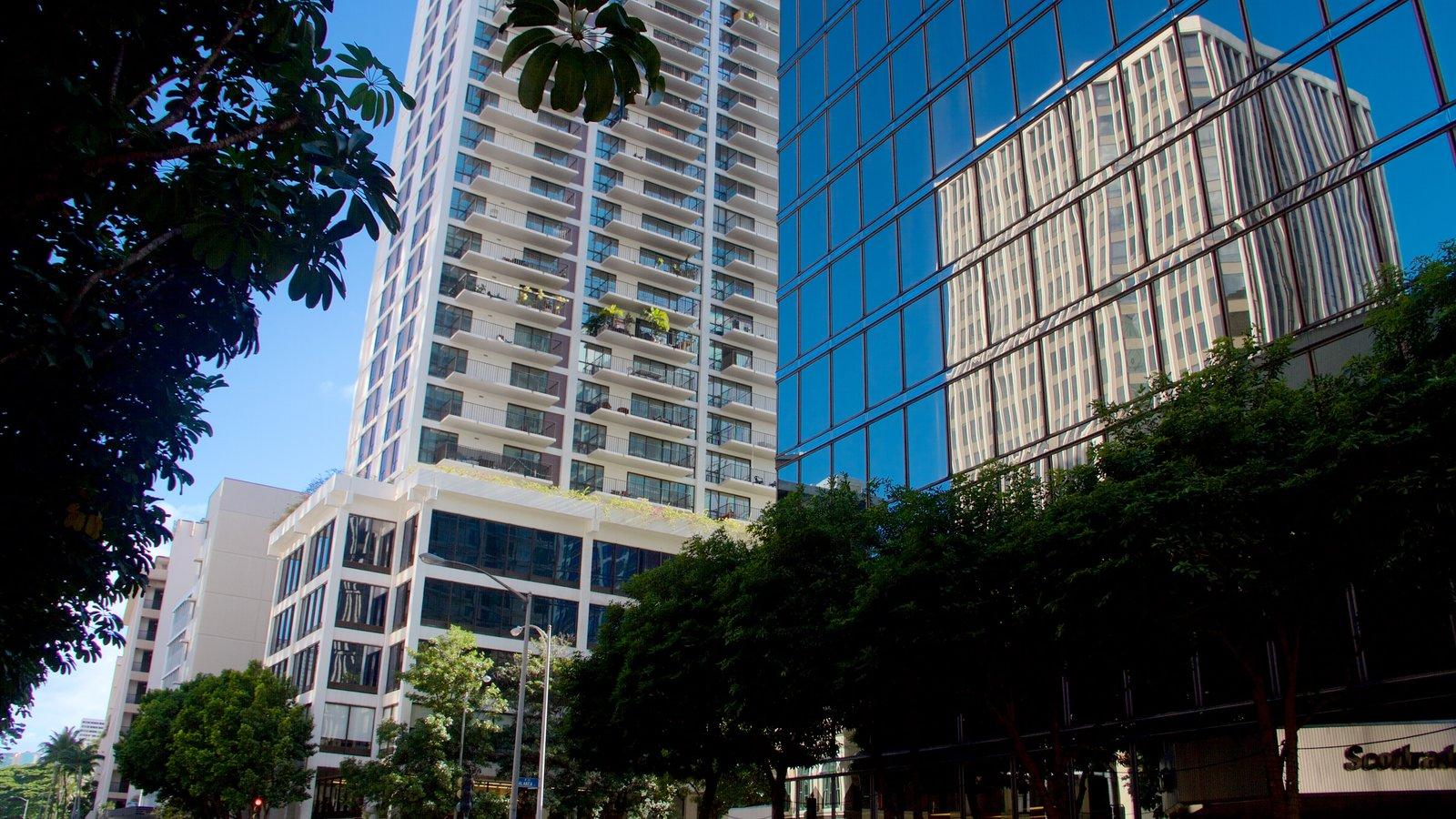 Honolulu mostrando arquitetura moderna