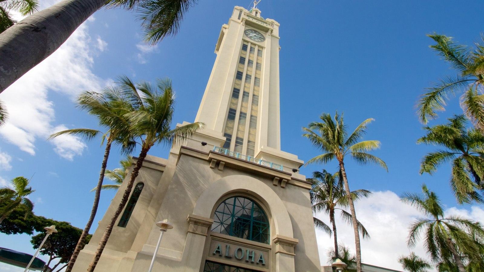 Aloha Tower mostrando arquitetura moderna