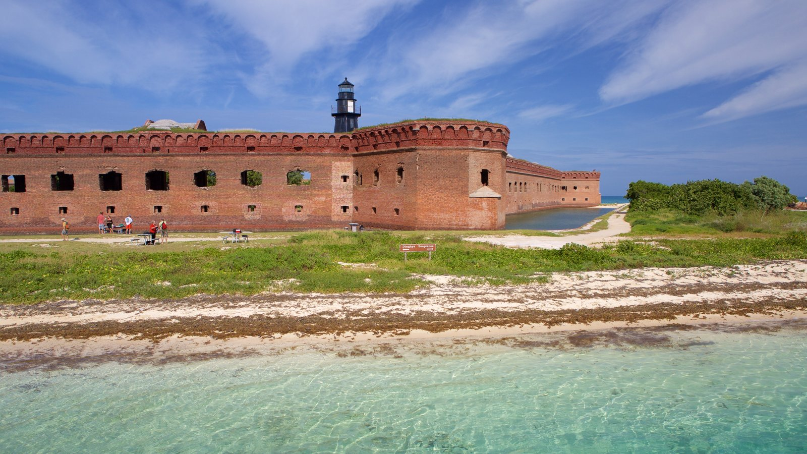 Dry Tortugas National Park featuring general coastal views and heritage architecture