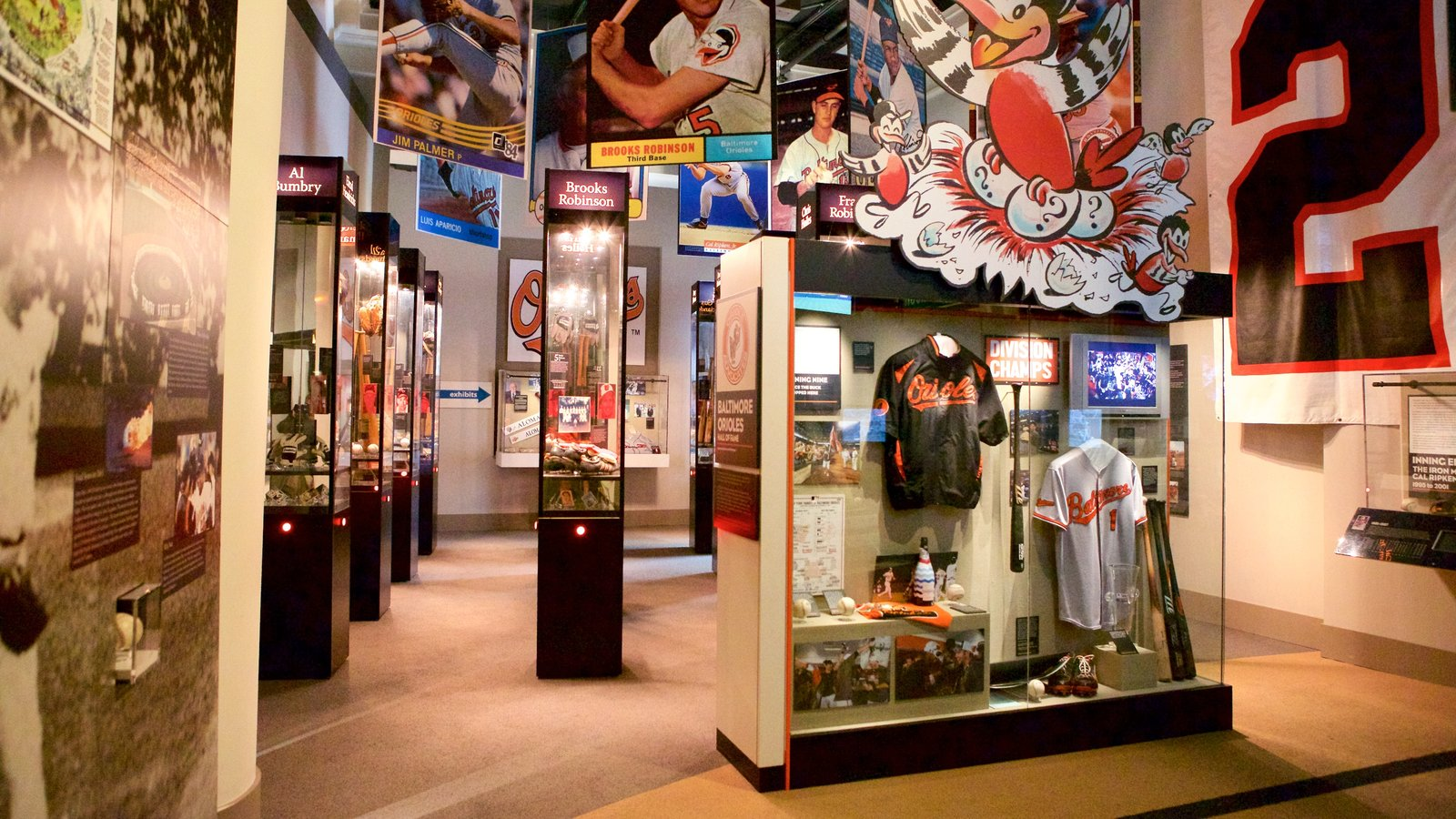 Sports Legends Museum at Camden Yards featuring interior views