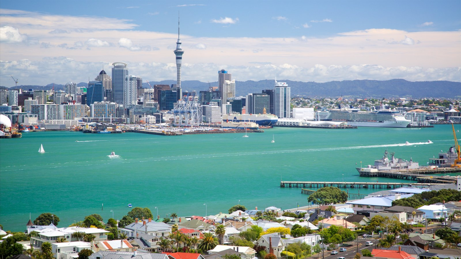 Devonport which includes a city, a river or creek and skyline