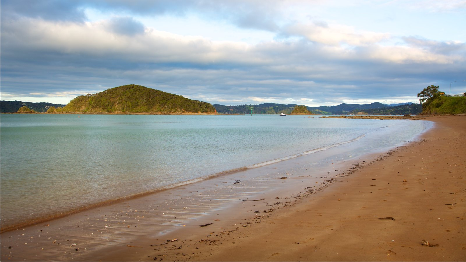 Paihia Beach featuring a bay or harbor and a sandy beach