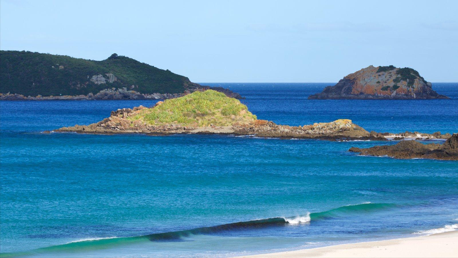 Ocean Beach featuring a bay or harbor, a sandy beach and island views