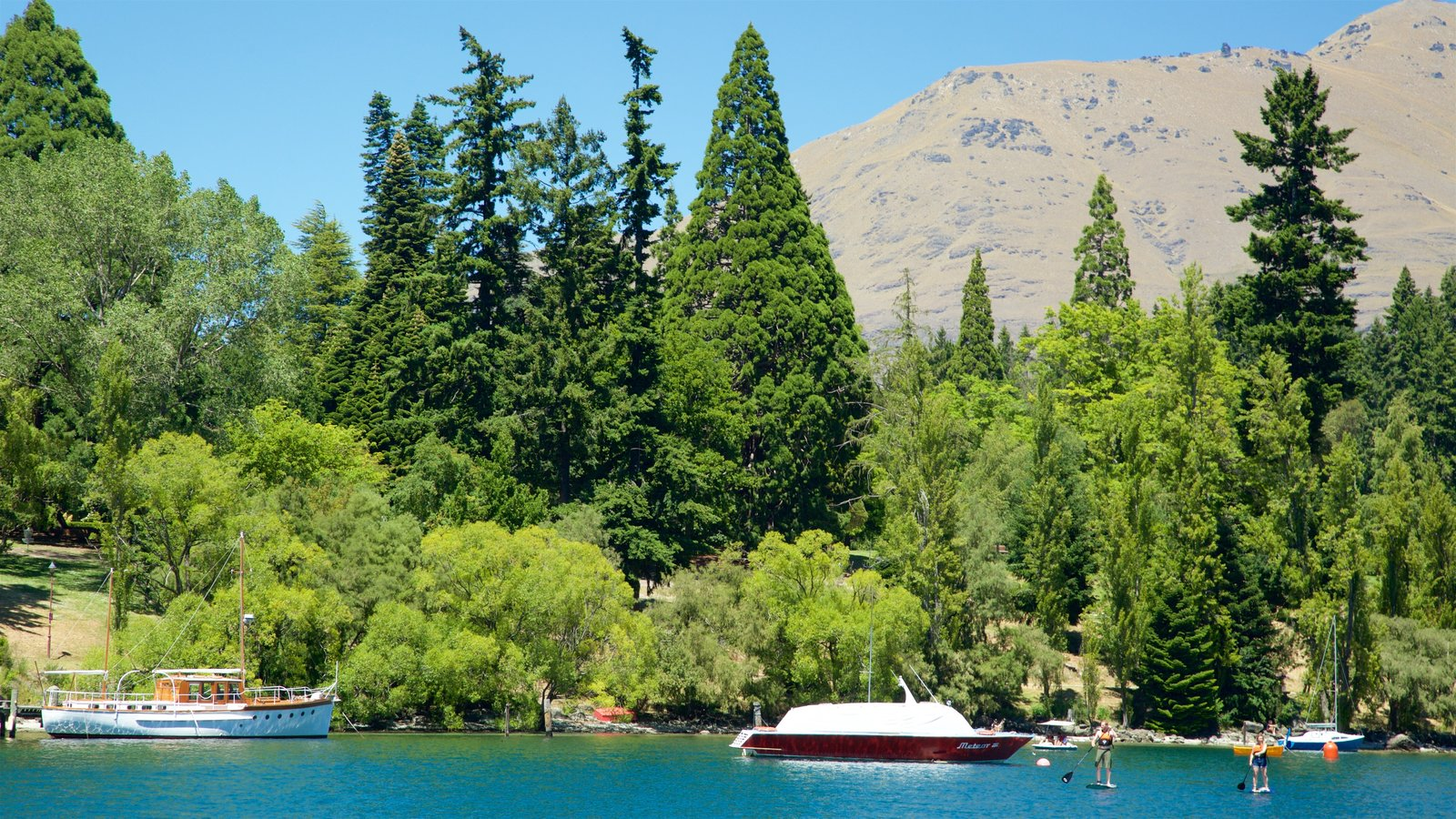Queenstown Gardens showing watersports, a lake or waterhole and boating