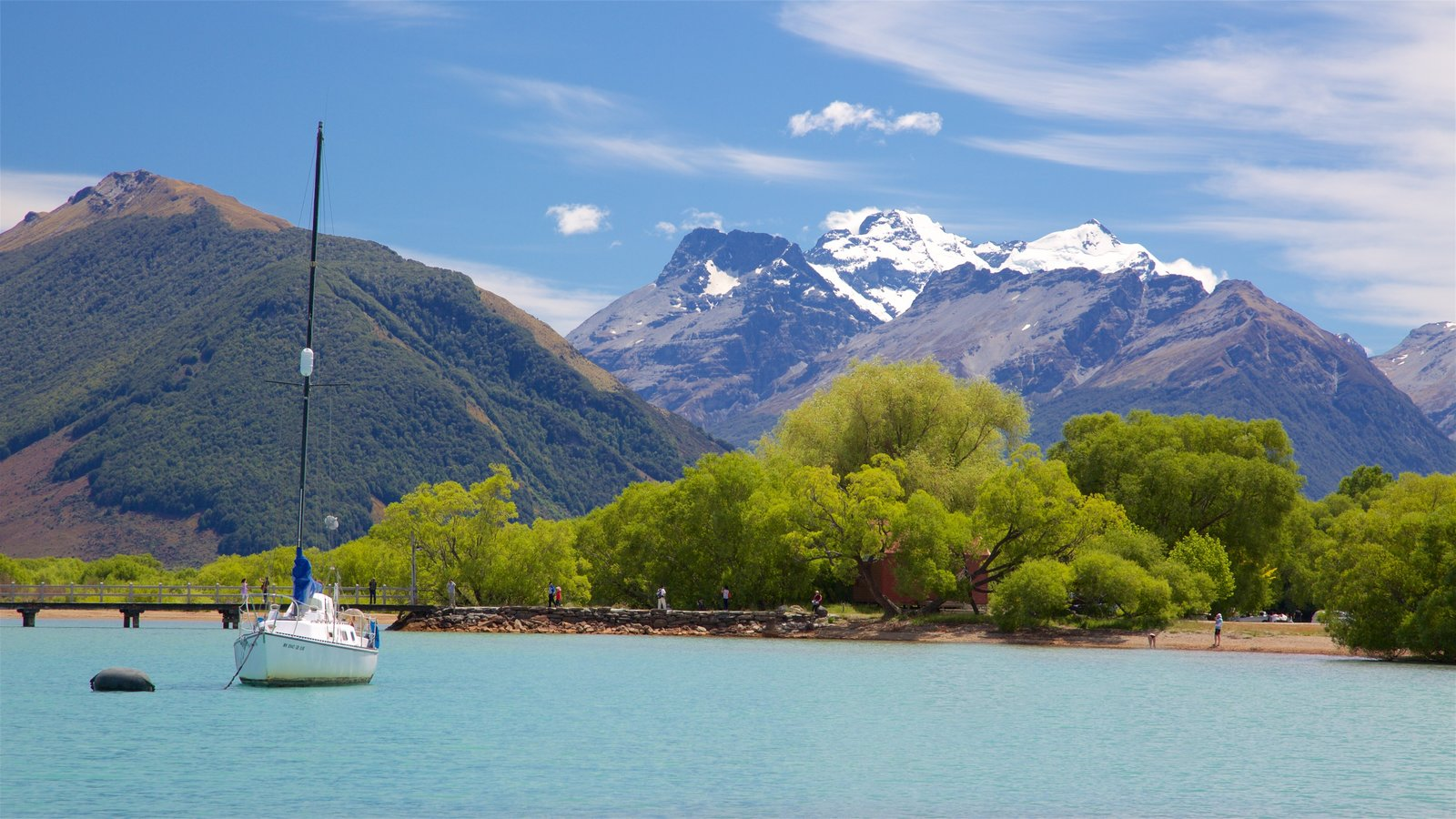 Glenorchy which includes a lake or waterhole, sailing and mountains