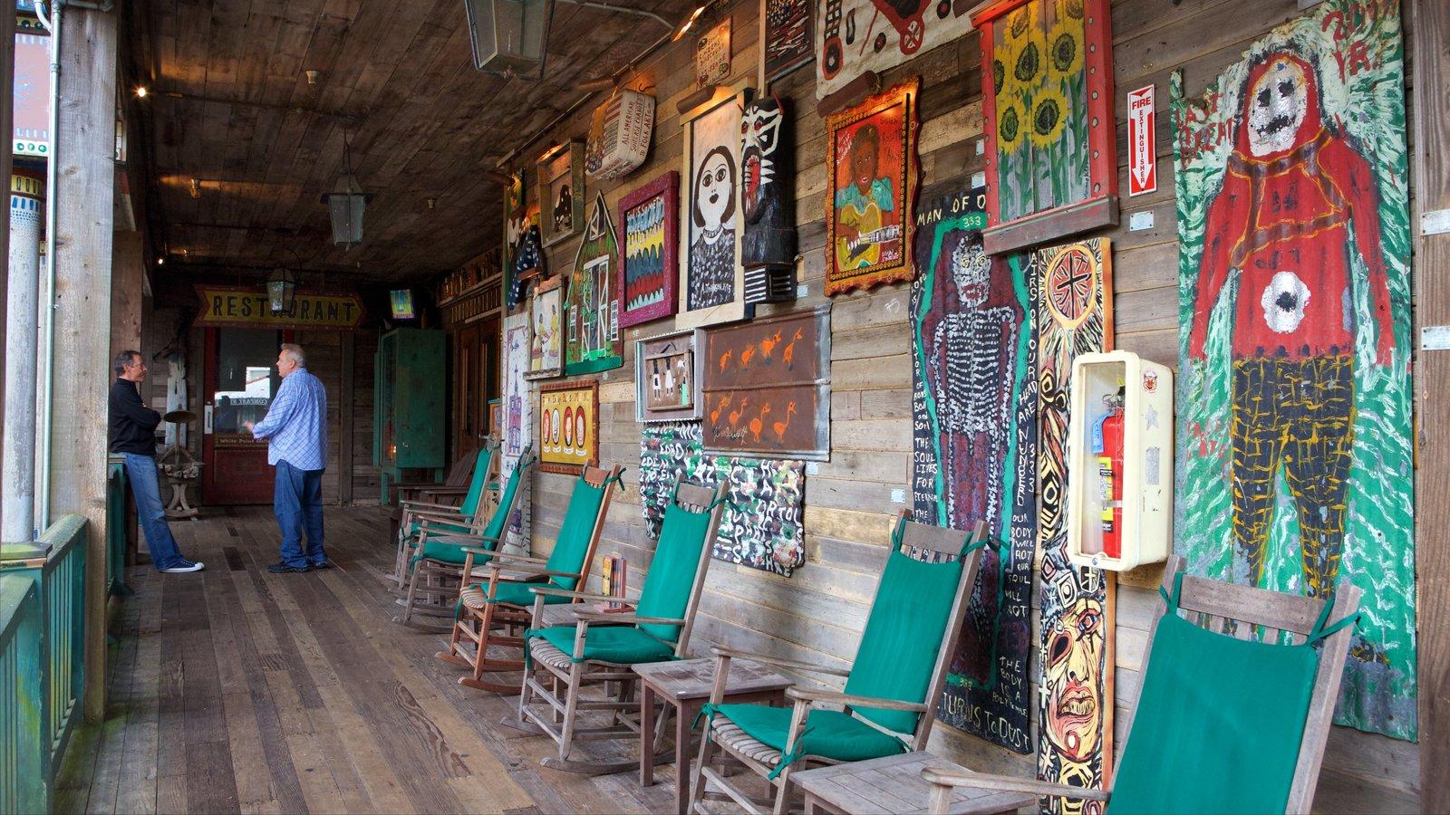 House of Blues Myrtle Beach que inclui vistas internas e arte