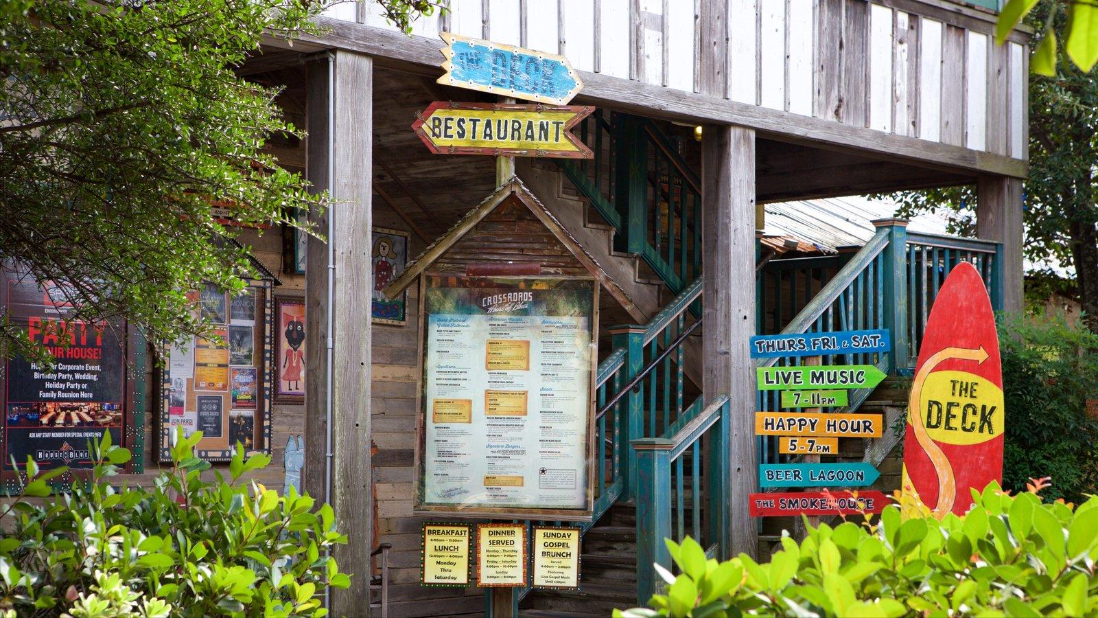 House of Blues Myrtle Beach caracterizando sinalização