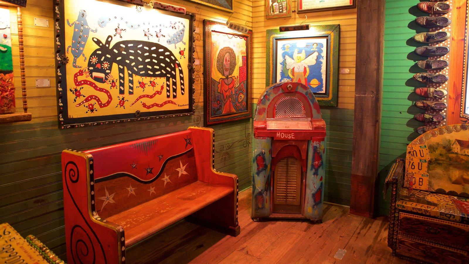 House of Blues Myrtle Beach que inclui vistas internas e elementos de patrimônio