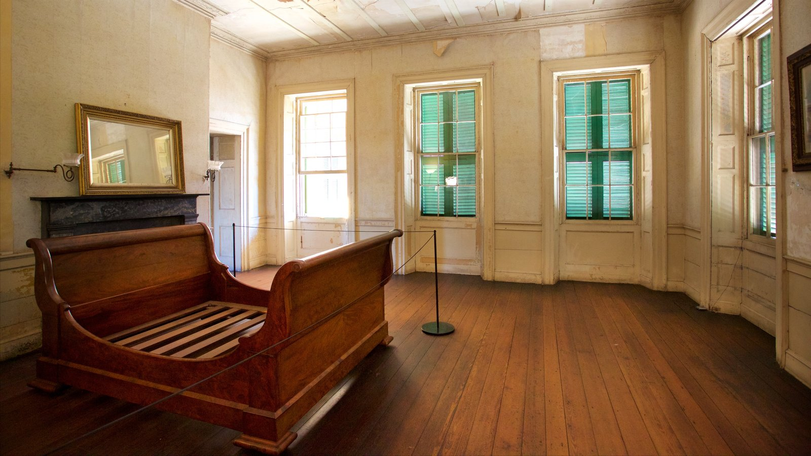 Aiken-Rhett House que inclui vistas internas e elementos de patrimônio