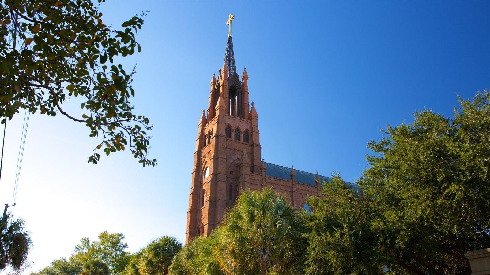 Charleston mostrando uma igreja ou catedral e arquitetura de patrimônio