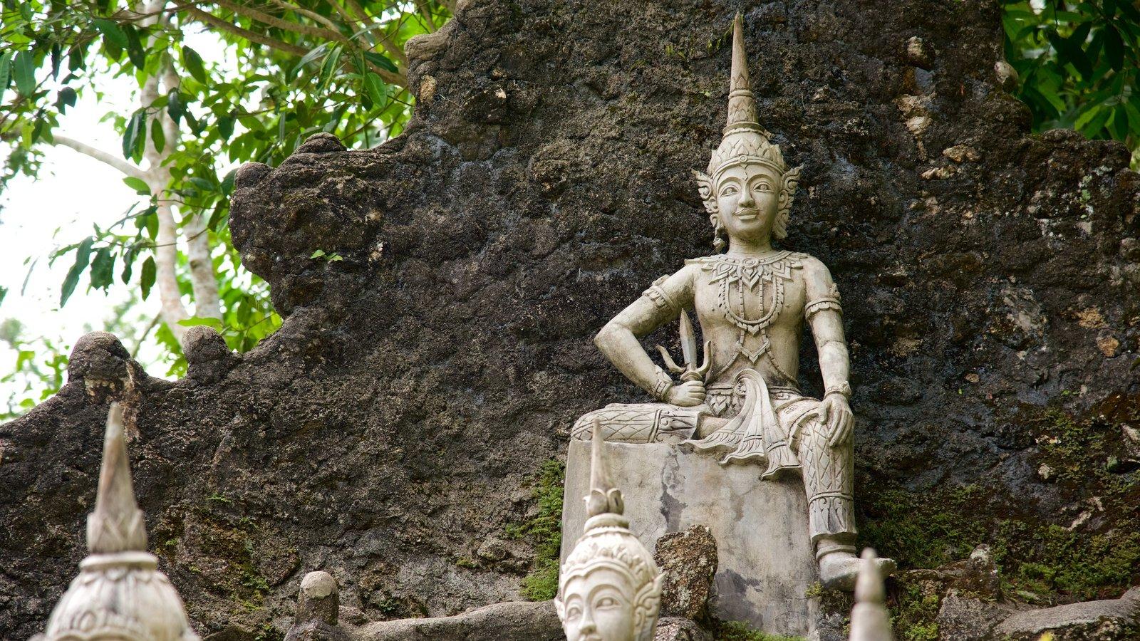 Secret Buddha Garden Which Includes A Statue Or Sculpture And A Garden